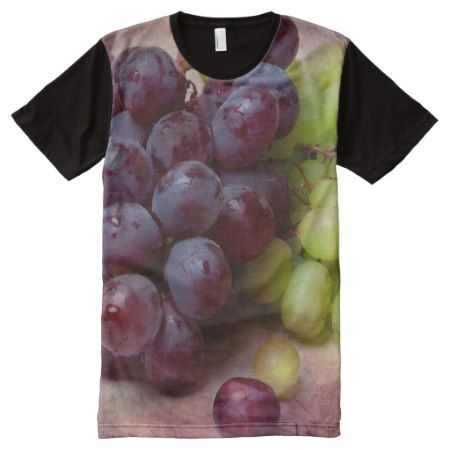 Grapes Red And Green All-Over-Print Shirt - tap, personalize, buy right now!