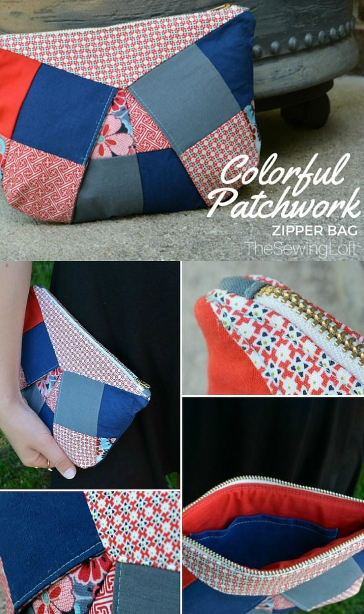 Colorful Patchwork Bag - The Sewing Loft