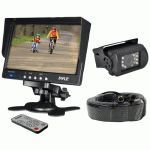 Pyle Weatherproof Backup Camera System With 7'' Lcd Color Monitor & Ir Night Vision Camera