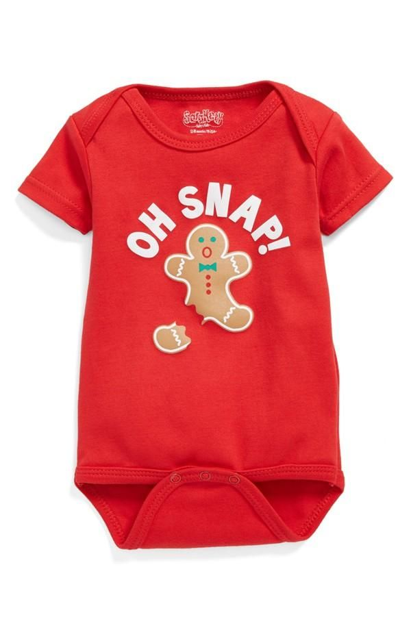 Oh snap! Gingerbread baby bodysuit.