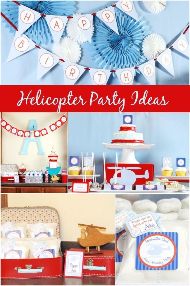 Helicopter Boy's Birthday Party Ideas www.spaceshipsandlaserbeams.com