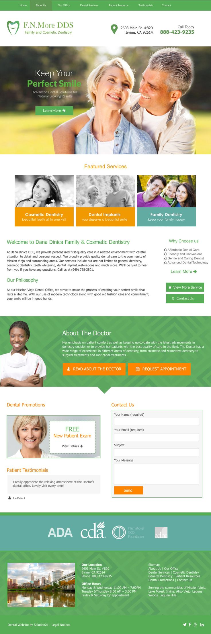 Dental web design concept by our talented Graphic Design team! Websites for Dentists by Solution21 <3