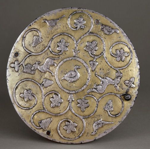 Lid 6th-7th century Sasanian period Silver and gilt H: 1.3 W: 12.4 D: 12.4 cm Iran