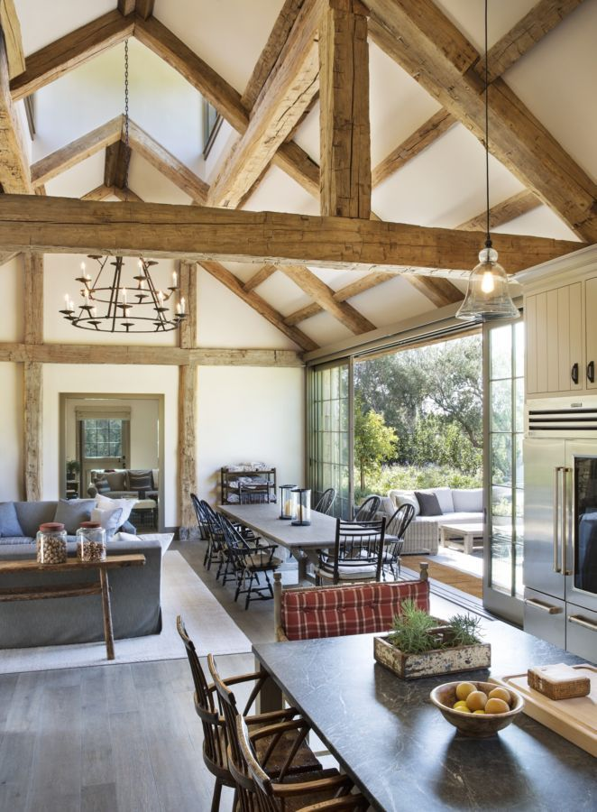 A roof completed by Vintage Timberworks highlights this home's fantastic outdoor connection. #luxeSoCal