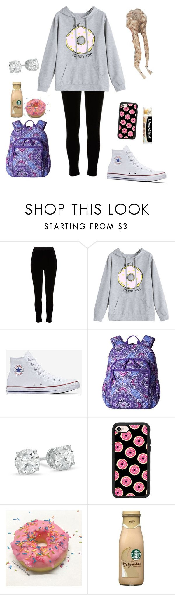 """""""Breakfast """" by haley-hetrick on Polyvore featuring River Island, Converse, Vera Bradley, Casetify and Chapstick"""