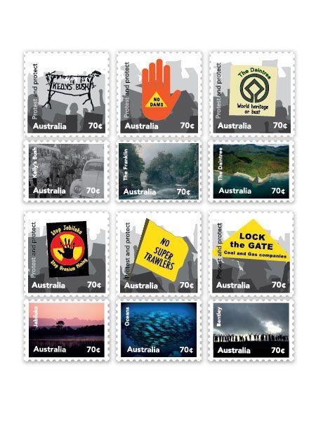 Future Friendly Design: Australian Protest Stamps