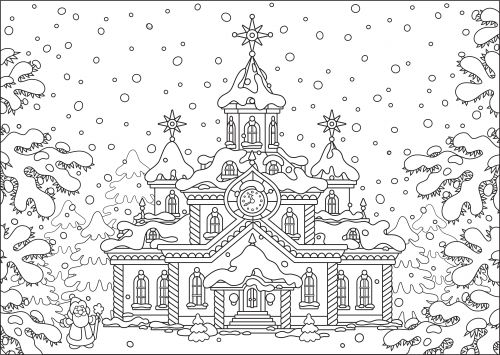 Stress Therapy Holiday Coloring Colouring SheetsColoring BooksFree