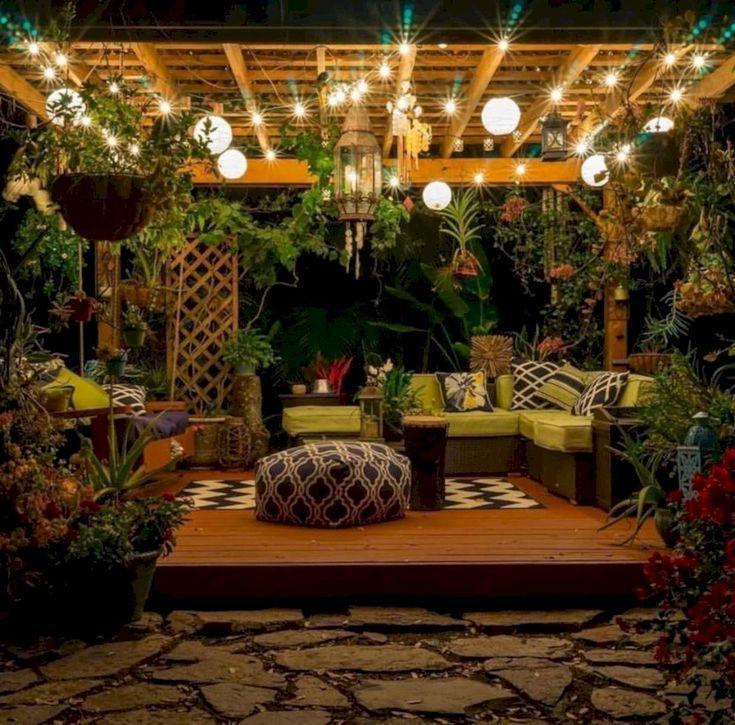 Backyard Lighting Ideas – #Hinterhof #Ideen #Beleu…
