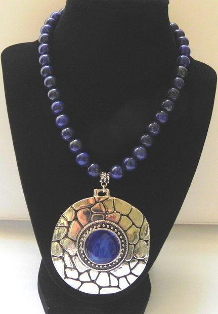 Lapis-lazuli lapis lazuli necklace necklace by PekitasCreations
