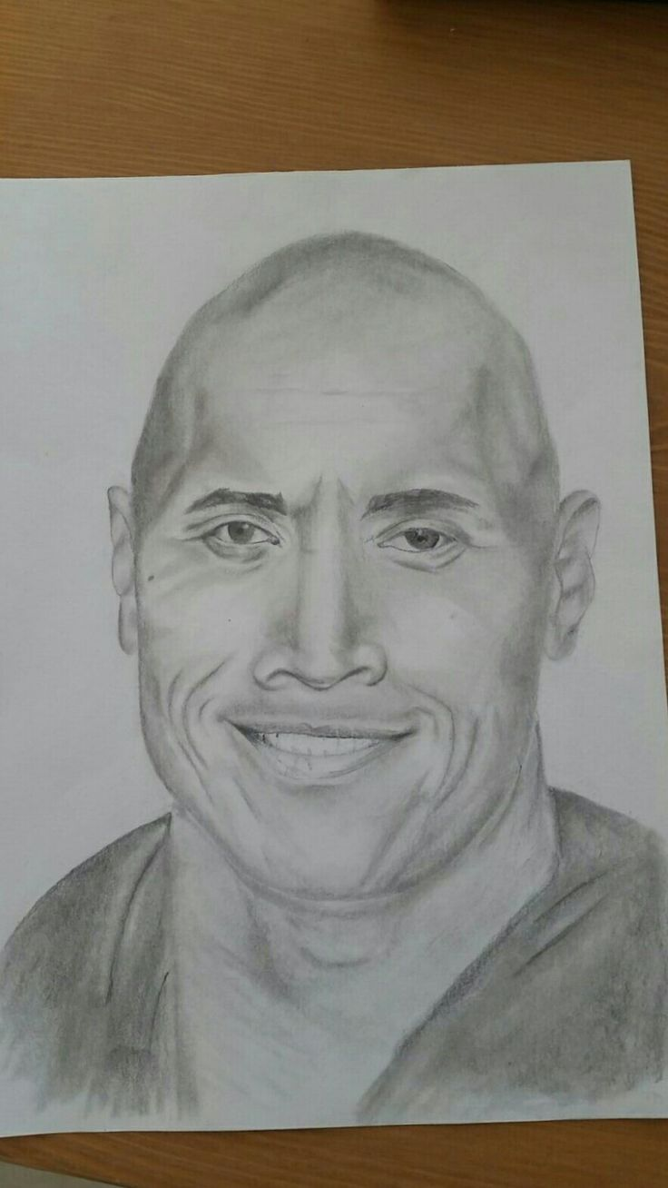 Dwayne The Rock Johnson pencil drawing
