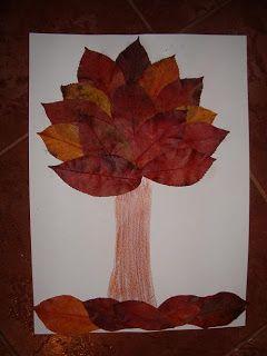 Őszi falevelekből őszi fa