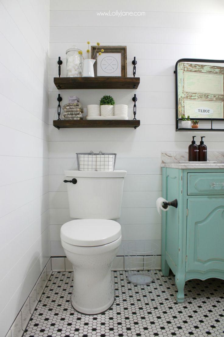 Diy Turnbuckle Shelf A Great Bathroom Addition Lolly Jane Bathroom Addition Small Bathroom Diy Toilet Shelves