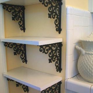 Buy brackets and shelves- voila!
