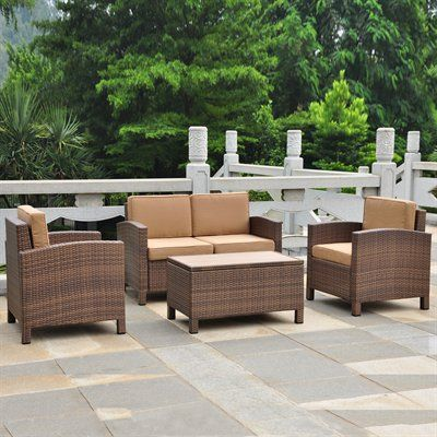 International Caravan 4250 S4 Barcelona 4 Piece Conversation Set