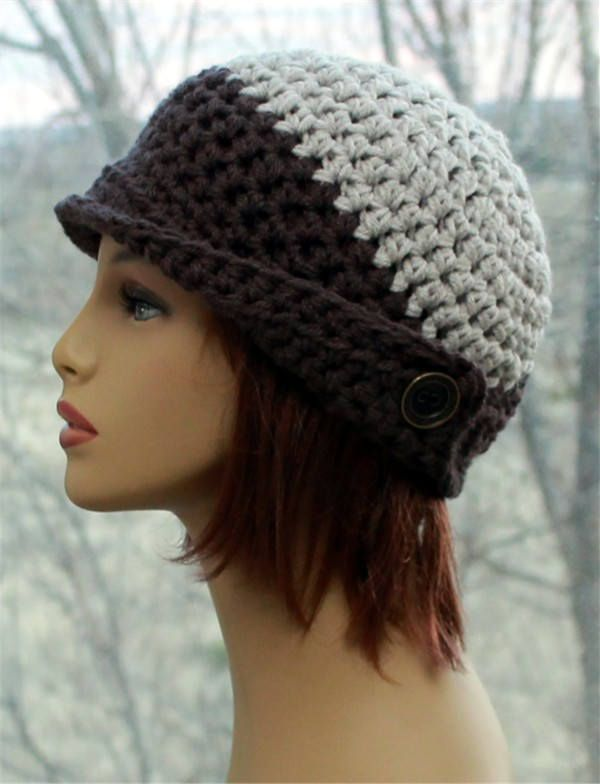Brown Hats For Women Girls Beanie Hats Knit Hats Brim Sale