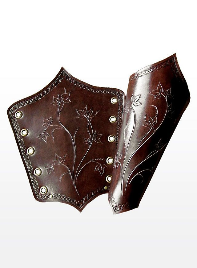 I'm thinking of deviating from Tauriel's actual costume, and attempting to make bracers similar to these instead... they're just so gorgeous!