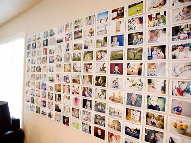 Graceful Hanging Photos Without Frames With Sweet Moment Family Material  Feat Colorful Pin To Hanging Combine