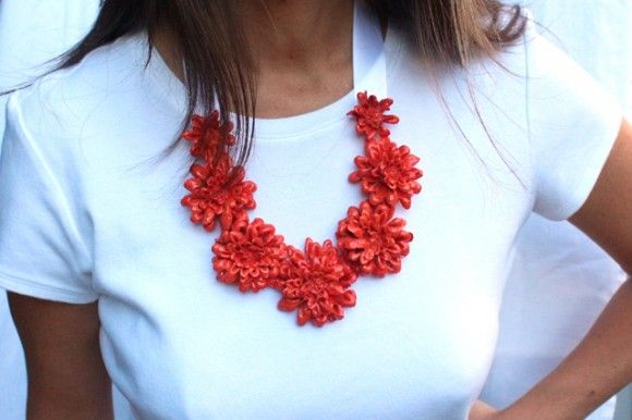 DIY flower necklace - inspired by kate spade!