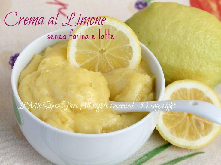 Crema al limone senza farina e latte:delicata,leggera e fresca.Ideale per celiaci e per chi è intollerante al lattosio.Dolce al cucchiaio,ottima per farcire
