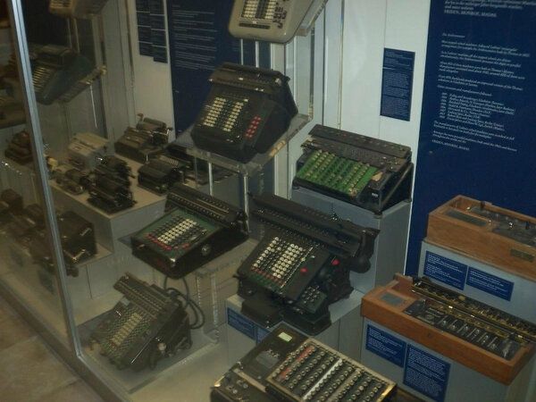 Belive me wen I say this is a collection of ancient CALCULATORS@Deutsche Museum!    Image Courtesy: @stuffednstarved #CoxandKings