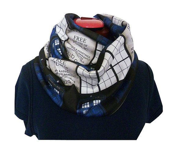 Dr Who Whovian Infinity Scarf Tardis Inspired Scarf by RoobyLane