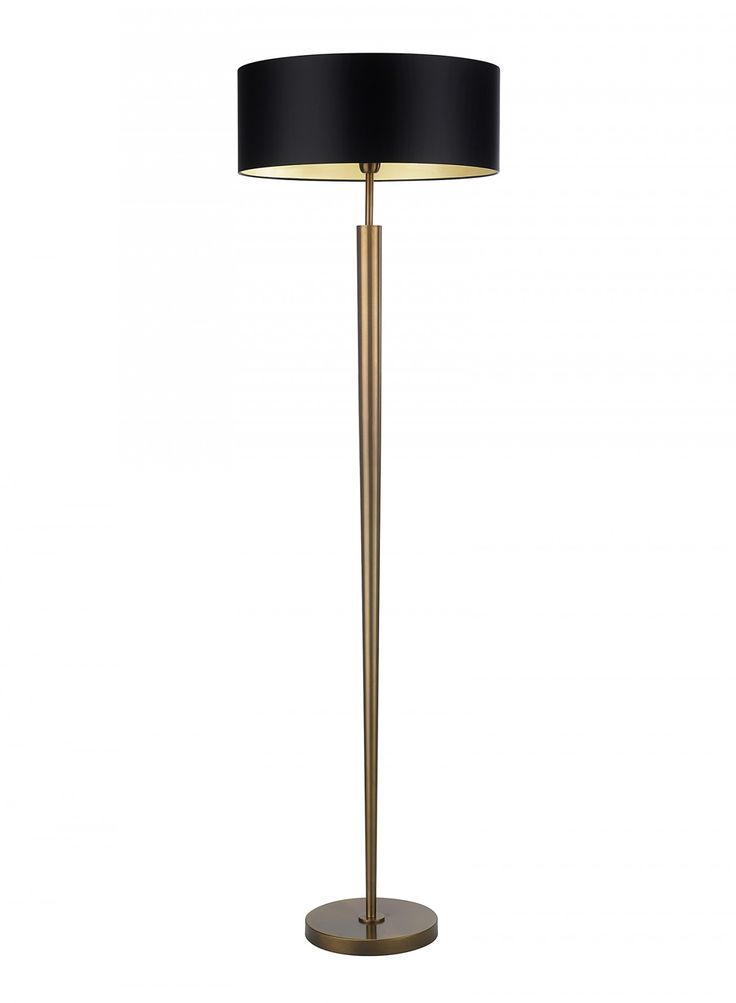 Torchere Antique Brass Floor Lamp - Heathfield & Co