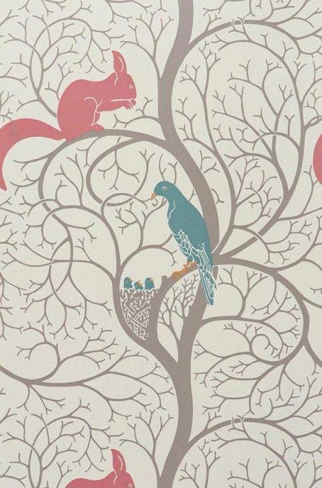 20 best images about id es pour la chambre de bb on - Papier peint romantique chambre ...