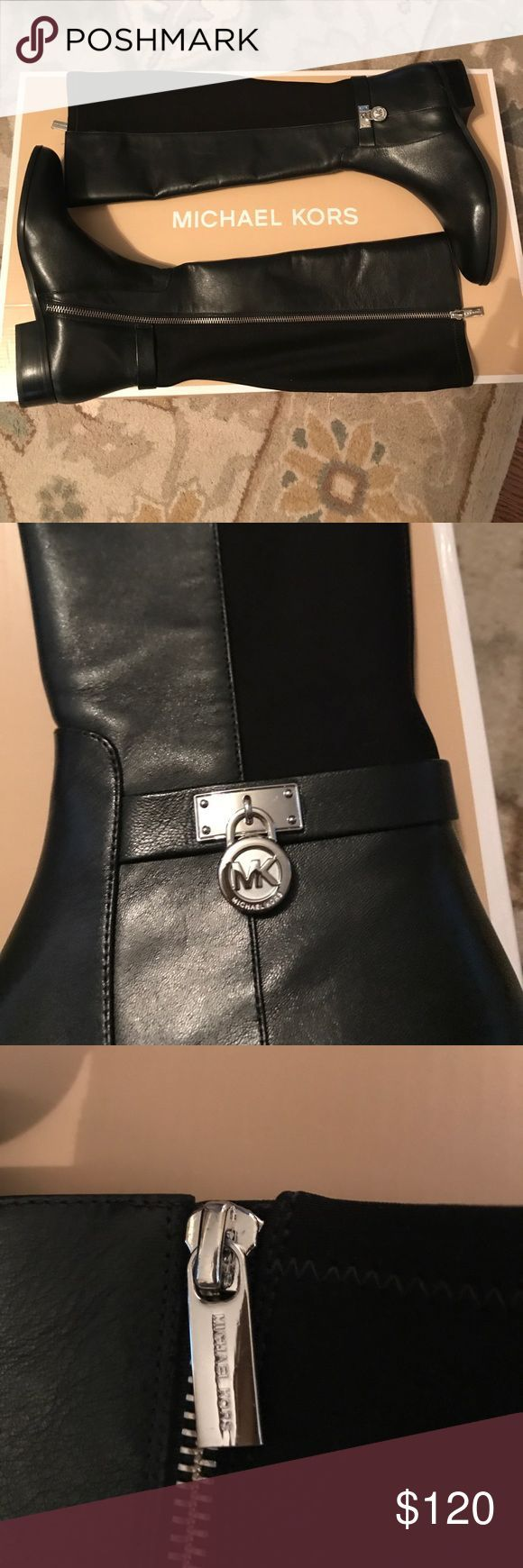 Michael Kors Hamilton Tall Boot NWT MK Hamilton Tall Boot. These are beautiful boots. SOOOO sad they don't fit now. (Bought before foot surgery ☹️) KORS Michael Kors Shoes Over the Knee Boots