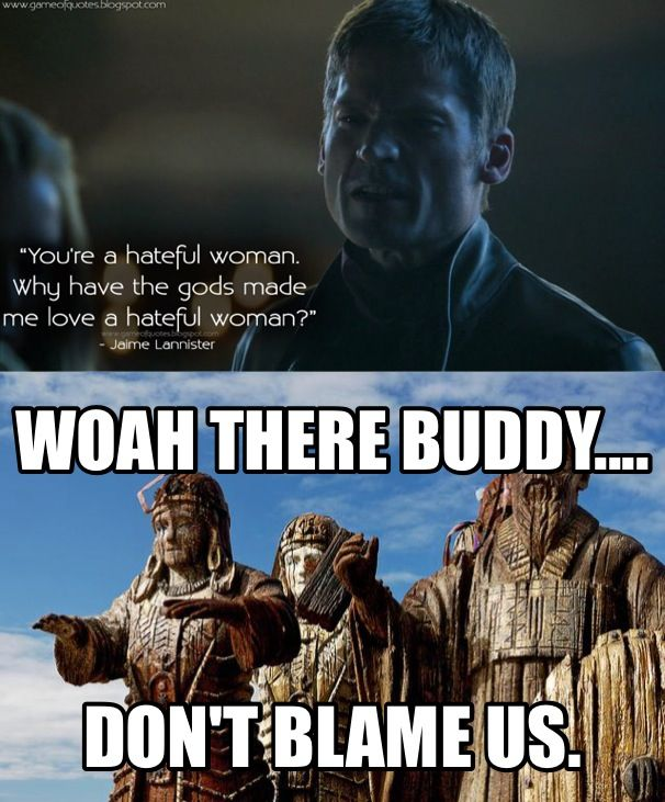 Game Of Thrones. Humor. Jaime Lannister.
