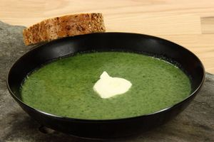 Spinatsuppe 4