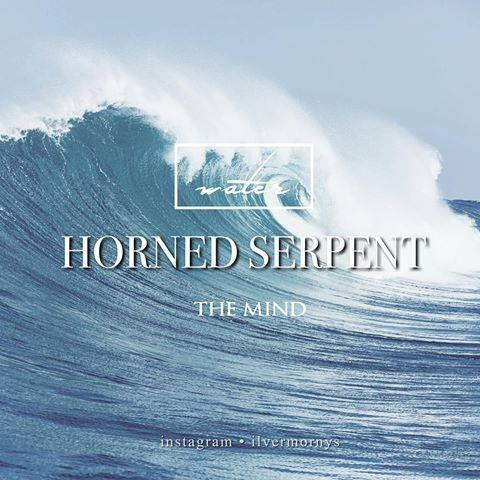 """Horned Serpent – a """"great horned river serpent with a jewel set into its forehead."""" Students sorted into Horned Serpent are highly intelligent and scholarly, but also resourceful and look out for one another. The creature is known to be the mind of the witch or wizard. - Comment below if you are a member of the Horned Serpent house"""