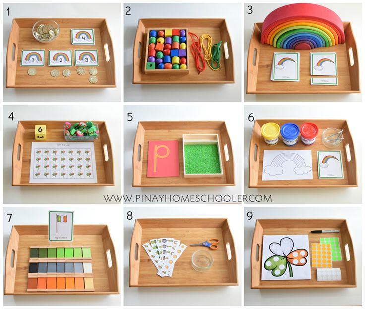 St Patrick's Day Montessori Inspired activities