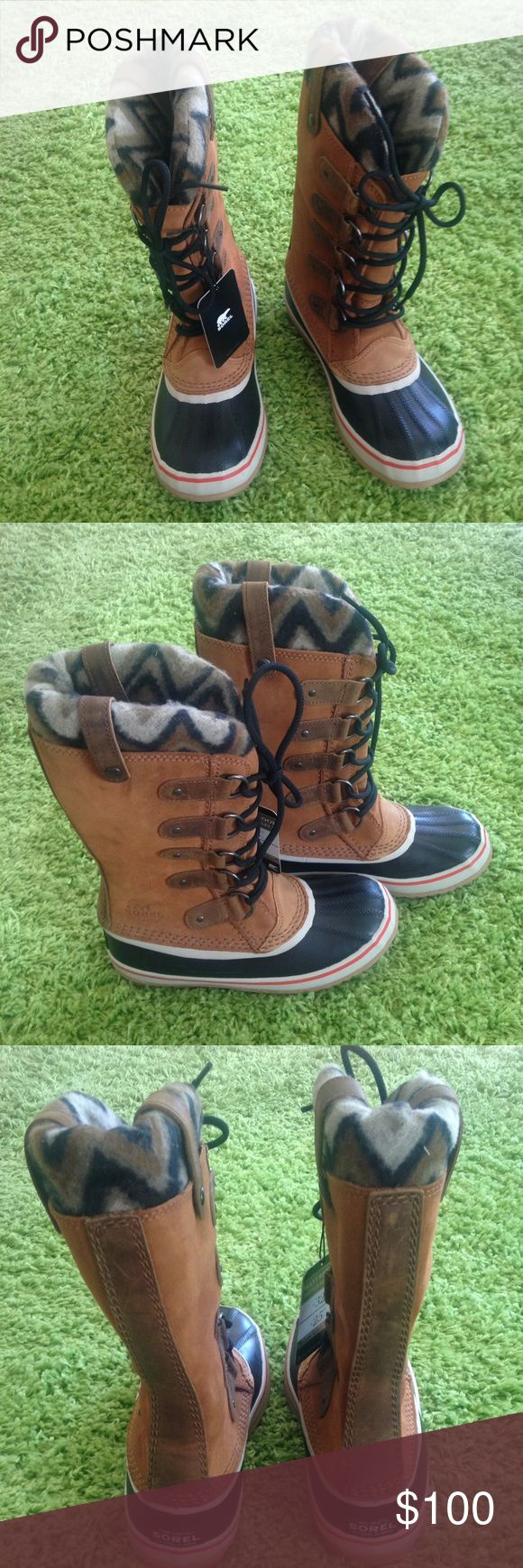 NEW SOREL JOAN OF ARTIC KNIT II WATERPROOF BOOTS. BRAND NEW WOMENS SIZE 7 ELK WATERPROOF SOREL BOOTS. REMOVABLE FLEECE LINED BOOTS. NATURAL RUBBER WITH LEATHER UPPER. DOES NOT COME WITH A BOX. Sorel Shoes Winter & Rain Boots