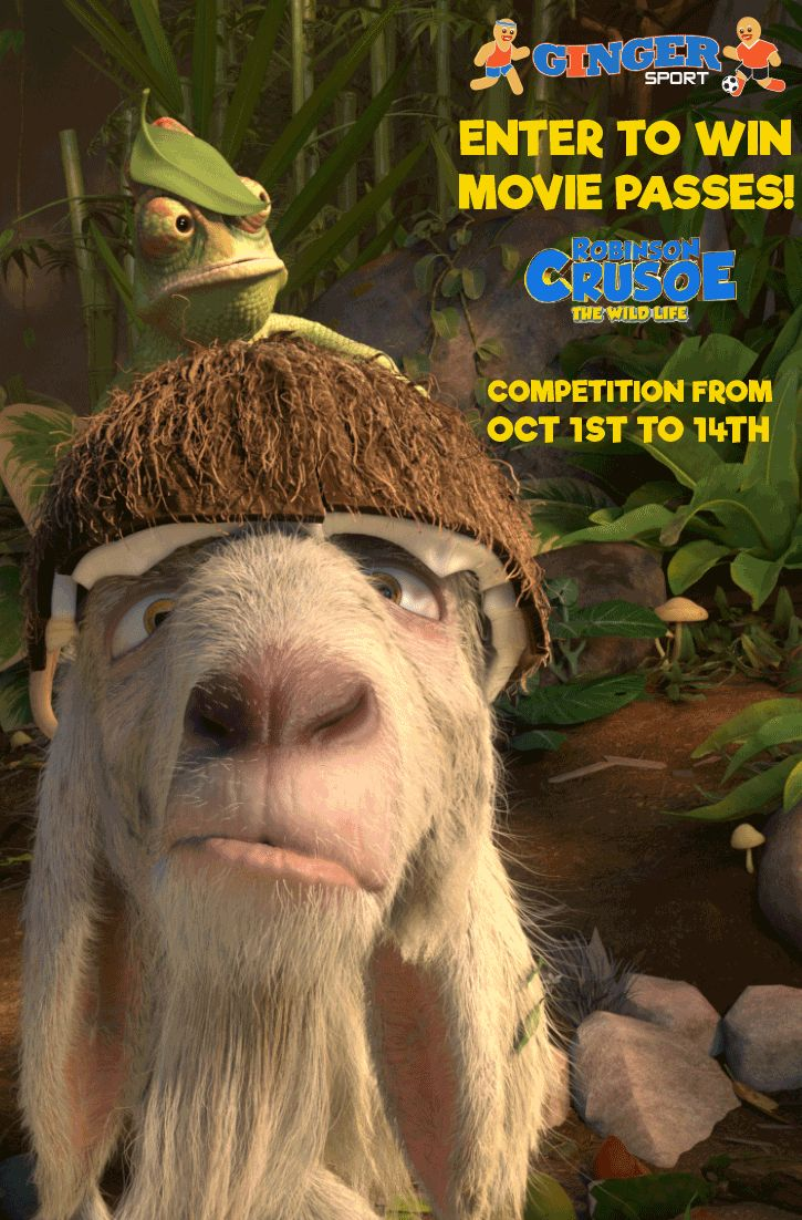 """HURRY!!! ONLY 4 DAYS LEFT TO ENTER! We have some fantastic movie passes to giveaway thanks to STUDIOCANAL. The prize: Two lucky families will each win a family pass for four people to """"Robinson Crusoe: The Wild Life"""", at Event Cinemas, Indooroopilly. How to enter: Just fill out your full name, postal address, and email address to enter. It's that easy!"""