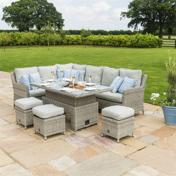 Find Maze Rattan Oxford Corner Garden Sofa Set with Rising ...