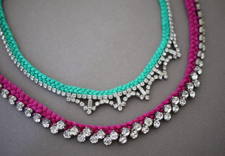 DIY Braided Rhinestone Necklace Crafthubs - Diy braided necklace