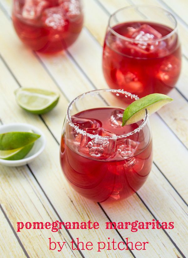 These are the BEST pomegranate margaritas!! Double the batch for a crowd - no more making a cocktail every two minutes during a party! | www.thewickednoodle.com