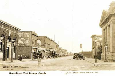 Scott Street. The business district of Fort Frances was changed forever on June 16, 1905. On that date a fire razed Front Street - the main business block of town.