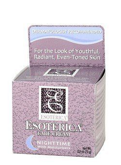 Esoterica Fade Cream Nighttime w/ Moisturizers 2.5oz by MEDICIS DERMATOLOGICS. $7.35. Clinically proven to gradually and effectively lighten dark areas on skin.. Advanced therapeutic system with Hyroquinone.. Infused with hydrating emollients. Use on Face, Neck, Chest, Arms, Hands, Shoulders, Legs, Body or Feet!. Indications: Use to gradually and effectively lighten dark areas, blemishes, freckles and spots in the skin that occur from sun exposure, age, acne scarring, p...