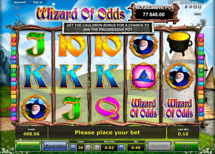 """Willst ein  progressiven Jackpot zu knacken?! Oh dann spiele doch """"Wizard of Odds"""" Automatenspiel von Novomatic. Tolle Grafik und Automaten Spiel Geschichte warten auf dich! Spiele umsonst das  """"Wizard of Odds"""" Automatenspiel von Novomatic und knacke den Jackpot!"""