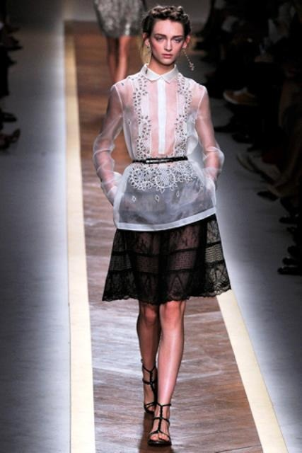 by Valentino The pattern and fabric makes it look like a modern female barong