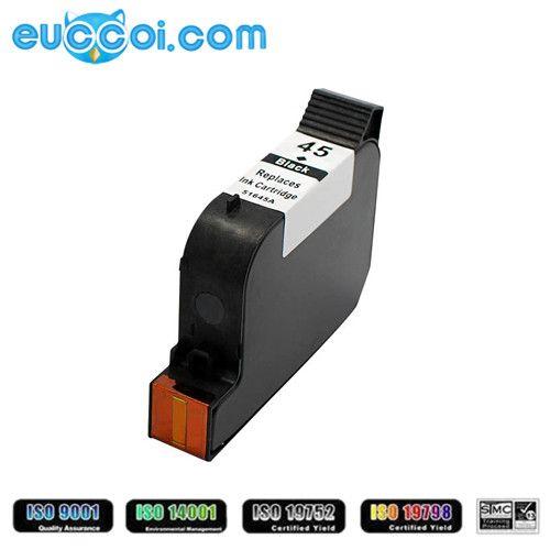 Hot Sale!Remanufactured HP 45 (C51645A) ink cartridge 40ml compatible printer:HP Color Copier 110/120/140/145/150/155/160 HP Color Copier 170/180/190/210/210Lx/260/270/280/290 HP Designjet 700/750c/750c Plus/755cm HP Fax 1220/1220xi HP Officejet 100/150/6200/6205/6210/6210v/6210xi...