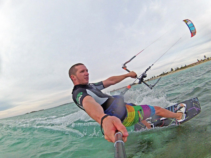 Kitesurfing with the Drift HD Ghost.