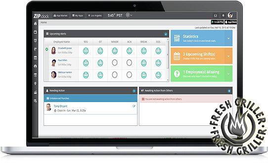 Employee Workforce Management Software by Zip clock