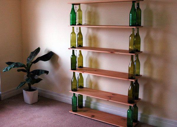 bouteilles étagères