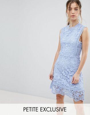 8c42c8810e4a Boohoo Petite exclusive petite bib detail lace midi dress | clothes ...