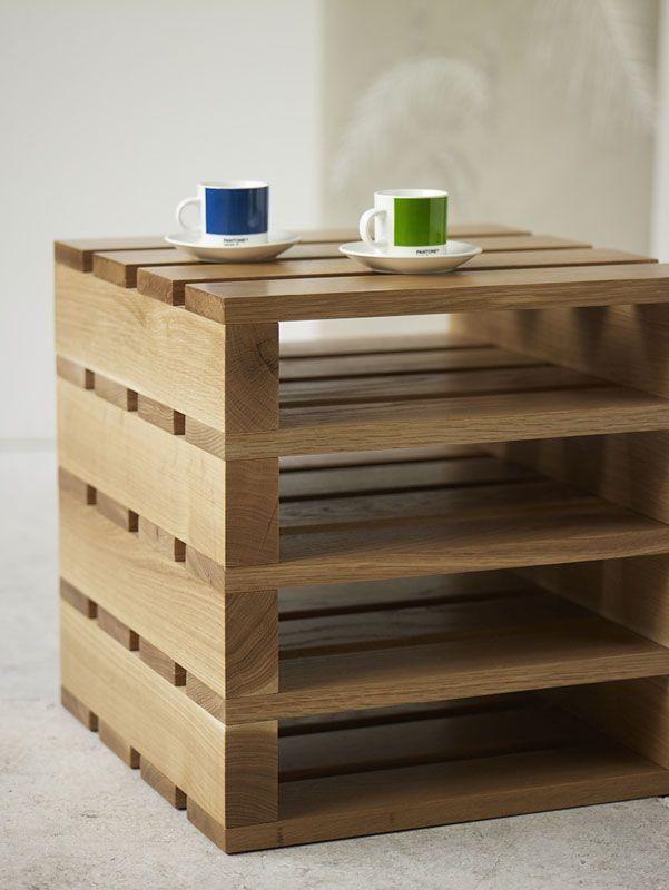 Stoliczek z drewna