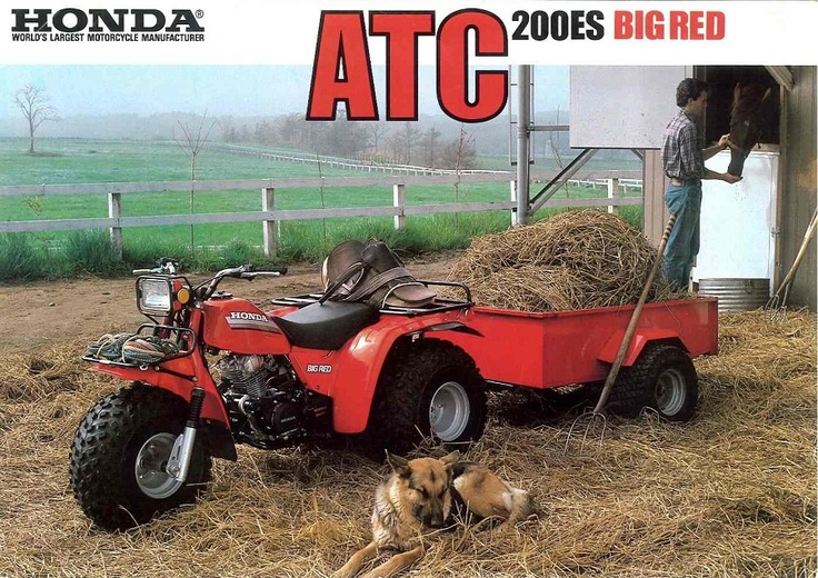 Honda Atc Atv 3 Wheeler Quad Trx Fl Odyssey Amp Pilot Nos
