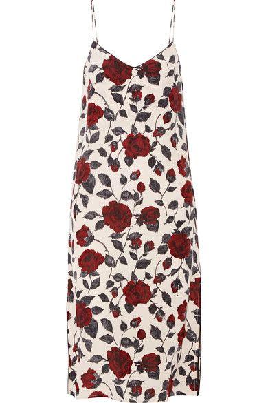 Multicolored silk crepe de chine  Slips on 100% silk Dry clean Designer color: Brick Rose Imported