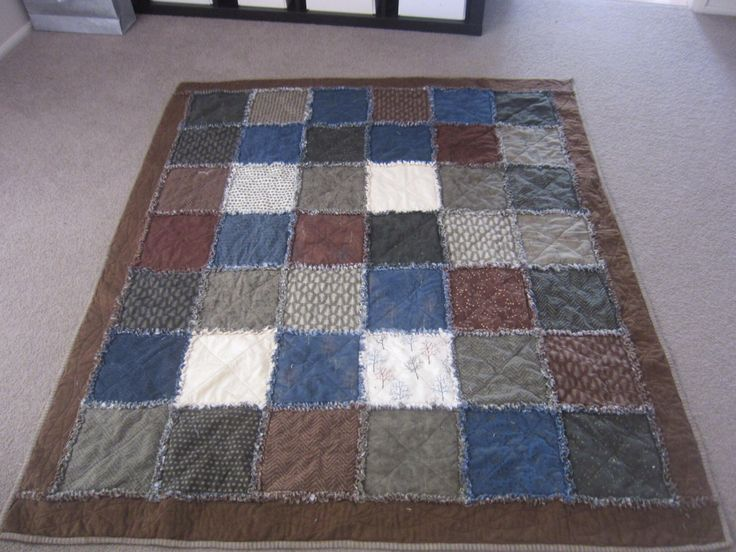 Raggedy flannel quilt made for my son. Made with two 10inch layer cakes,